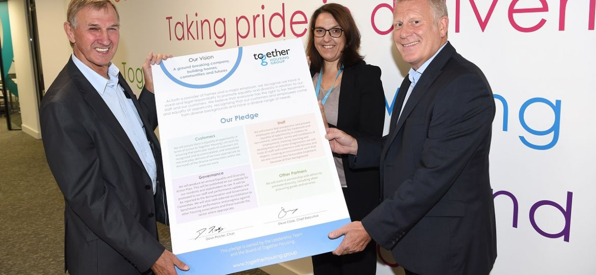 Together Housing signs diversity pledge