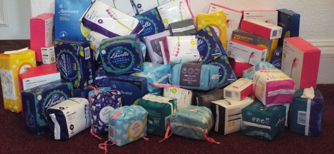 Sanitary donations for The Trussell Trust