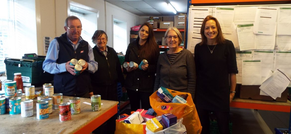 Supporting the local foodbank