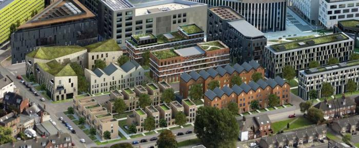 Artist's impression of housing at Helix (Demo)