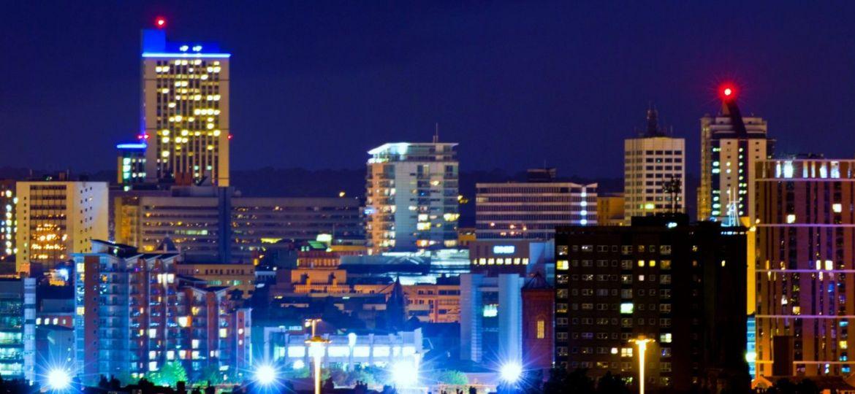 Leeds skyline at night (Demo)