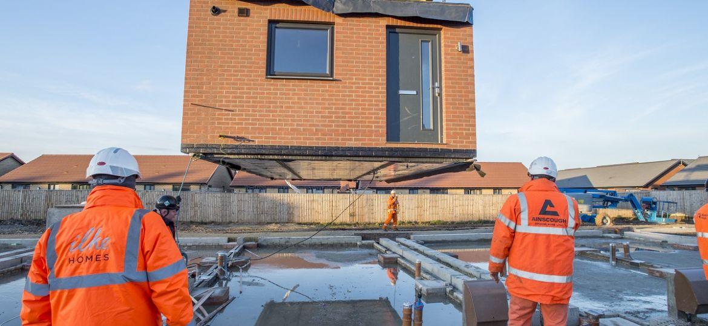 Installation of modular units, Ilke Homes, Hull (Demo)