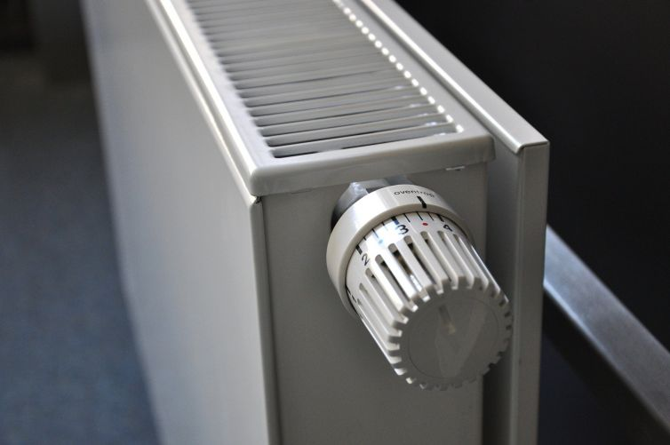 A close-up of a radiator.