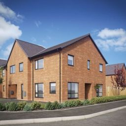 An artist's impression of Liverpool City Council's new council housing scheme on Denford Road in Yew Tree.