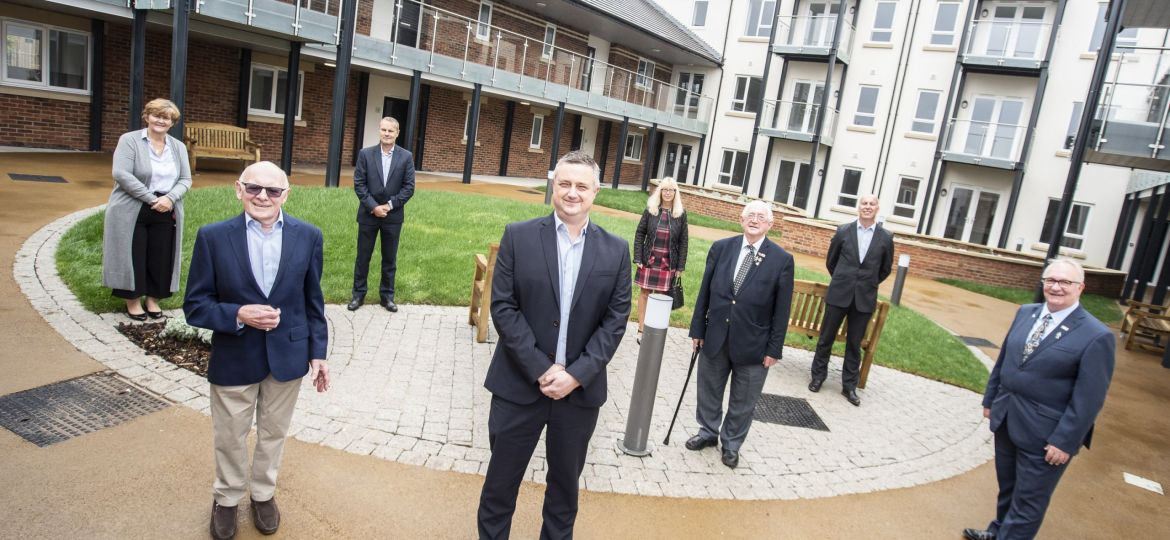 Representatives of South Tyneside Council, South Tyenside Homes, South Tyenside Ventures Trust and Tolent at Whitburn Towers.