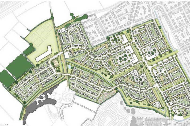 The illustrative plan for Parklands Village in Weston-super-Mare.