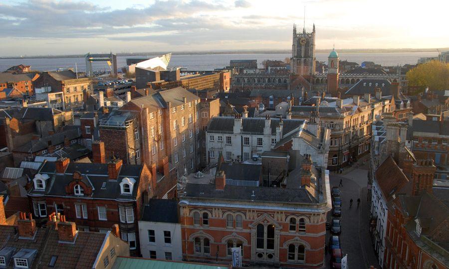 The skyline over Kingston-upon-Hull.