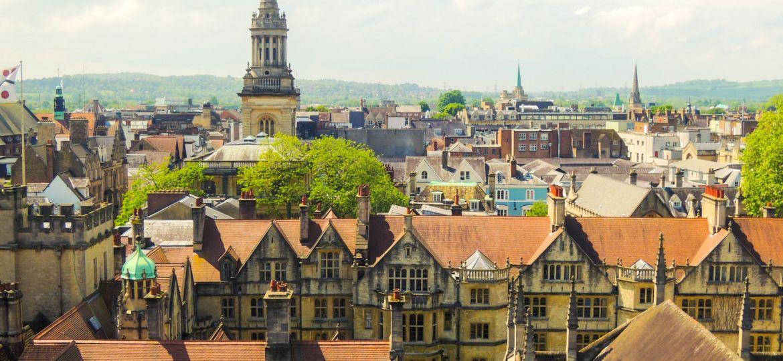 A skyline shot of Oxford city centre.