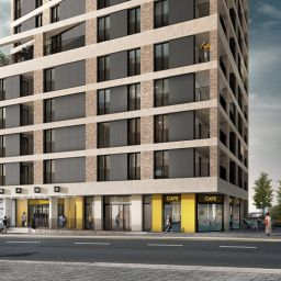 An artist's impression of Populo Living's new Plaistow Hub in Newham.