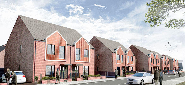 A CGI impression of Crossley Grange, One Manchester's £5.8 million scheme in Gorton, Manchester.