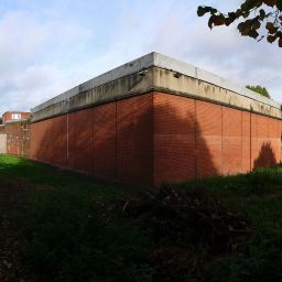 The outer walls of Holloway Prison in Islington, London.