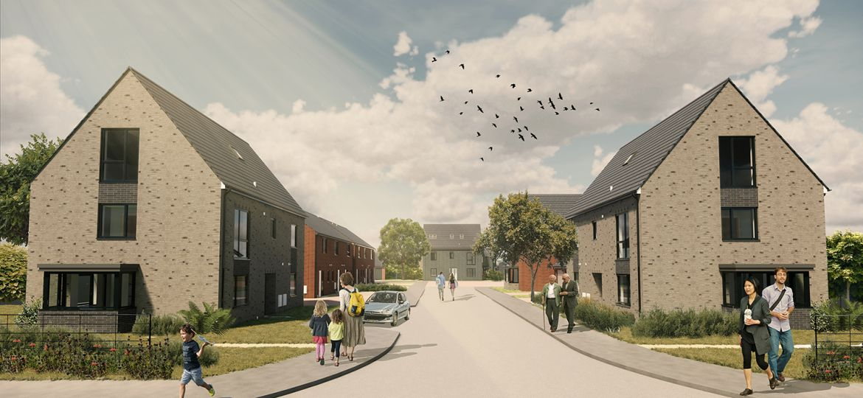 An artist's impression of ENGIE's housing scheme in Hebburn.