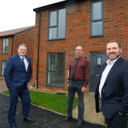 Representatives at Wayside Point, the new affordable housing scheme in Ellington, Northumberland.