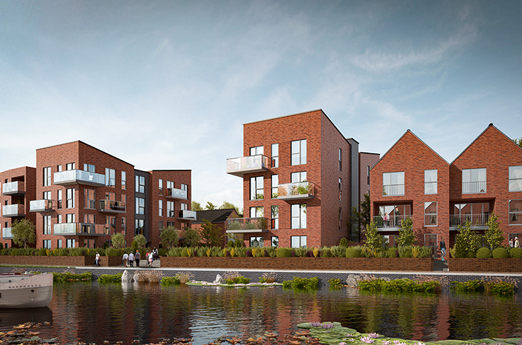 An artist's impression of Keepmoat Homes' Leicester Waterside development.