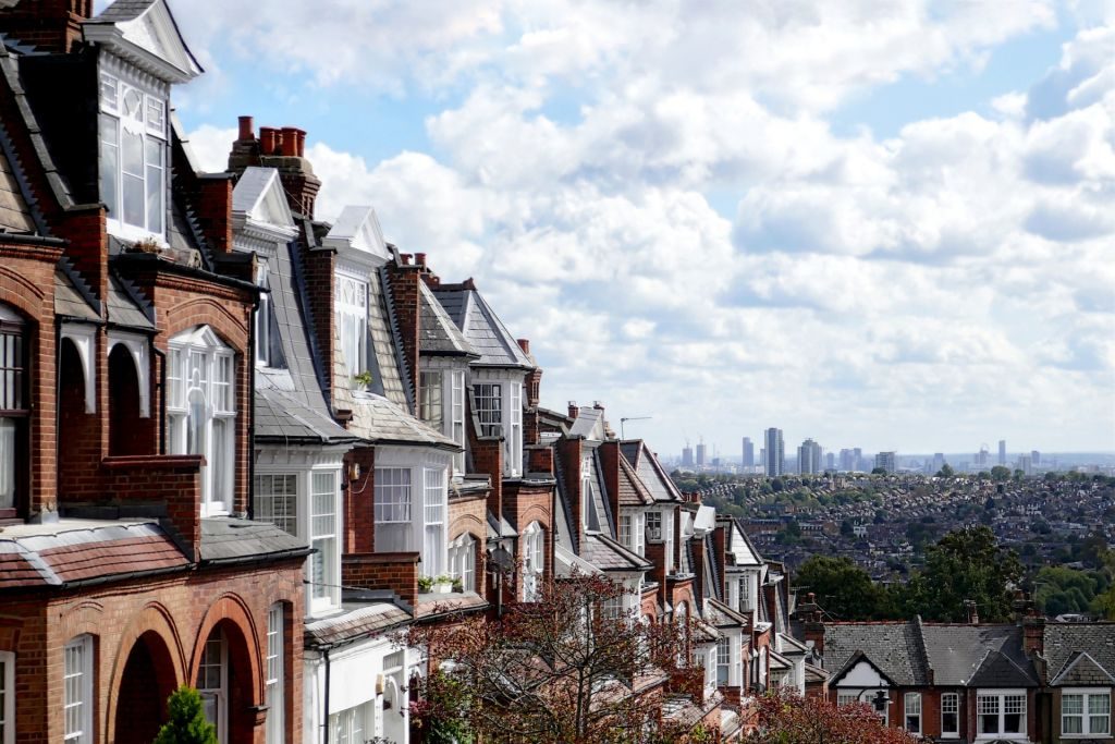 Housing on Hillfield Park in Muswell Hill, north London.