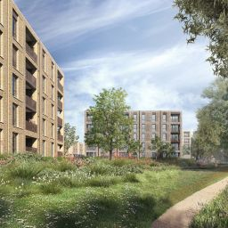 An artist's impression of Catalyst's development at Littlemore Park, Oxford.