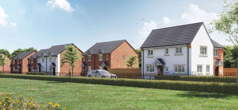 A CGI interpretation of Together Housing's new affordable housing development on Ferrars Road, Tinsley.