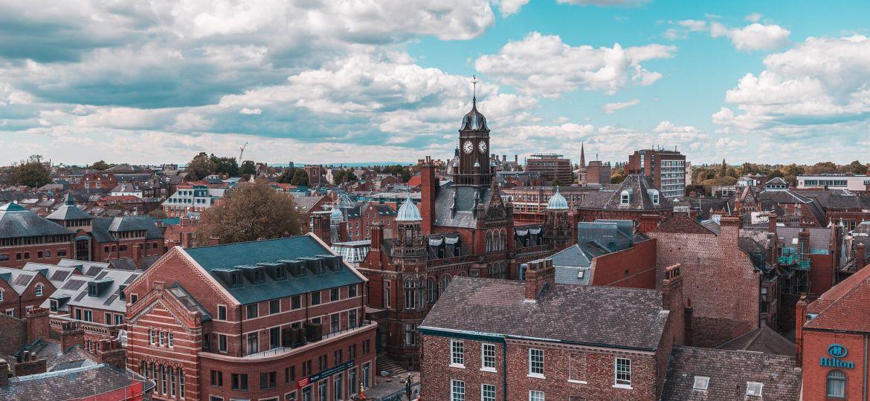 The skyline overlooking the city of York, England.