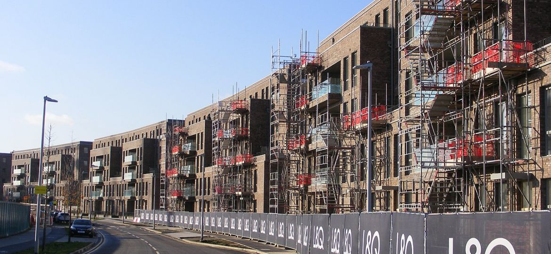 L&Q housing under construction, Fielders Crescent, Barking Riverside, London.