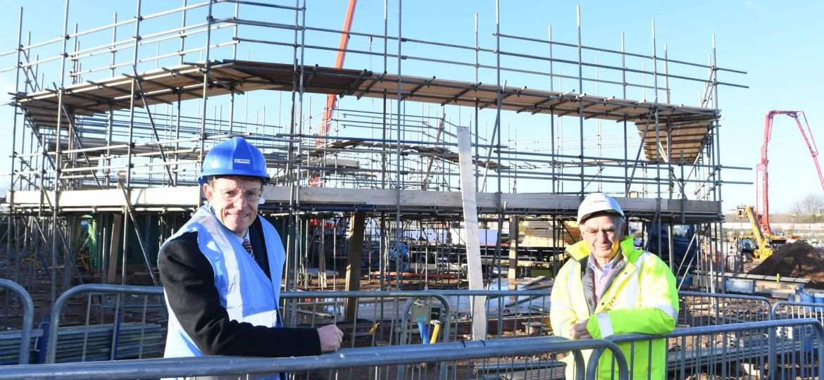 Andy Street, Mayor of the West Midlands and Peter Deeley, Managing Director of the Deeley Group on site at Tiverton Road in Wyken, Coventry..