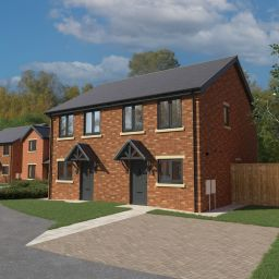 An architect's illustration of how Karbon's new homes at Castlefields, Esh Winning, will look on completion.