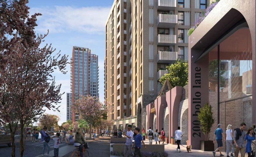 An artist's impression of TfL's Bollo Lane development.