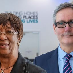 Paul Hackett CBE, chief executive of Optivo, and Monica Barnes MBE, chair of Optivo's resident strategy group.