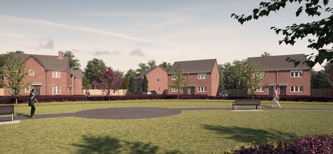 An artist's impression of what Pennine Crest will look like once complete.
