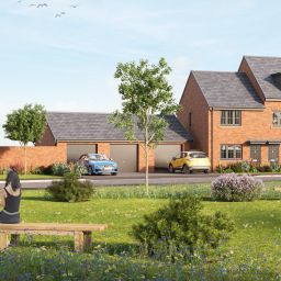An artist's impression of Keepmoat Homes' new development in Thurnscoe, Barnsley.