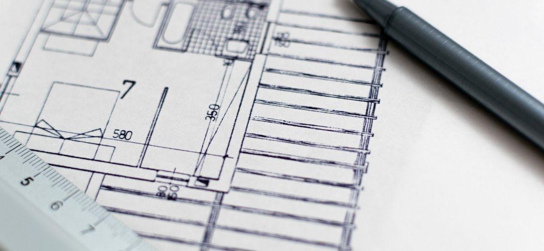 A blueprint for a house.