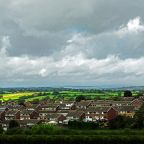 The skyline over Harrogate, North Yorkshire.