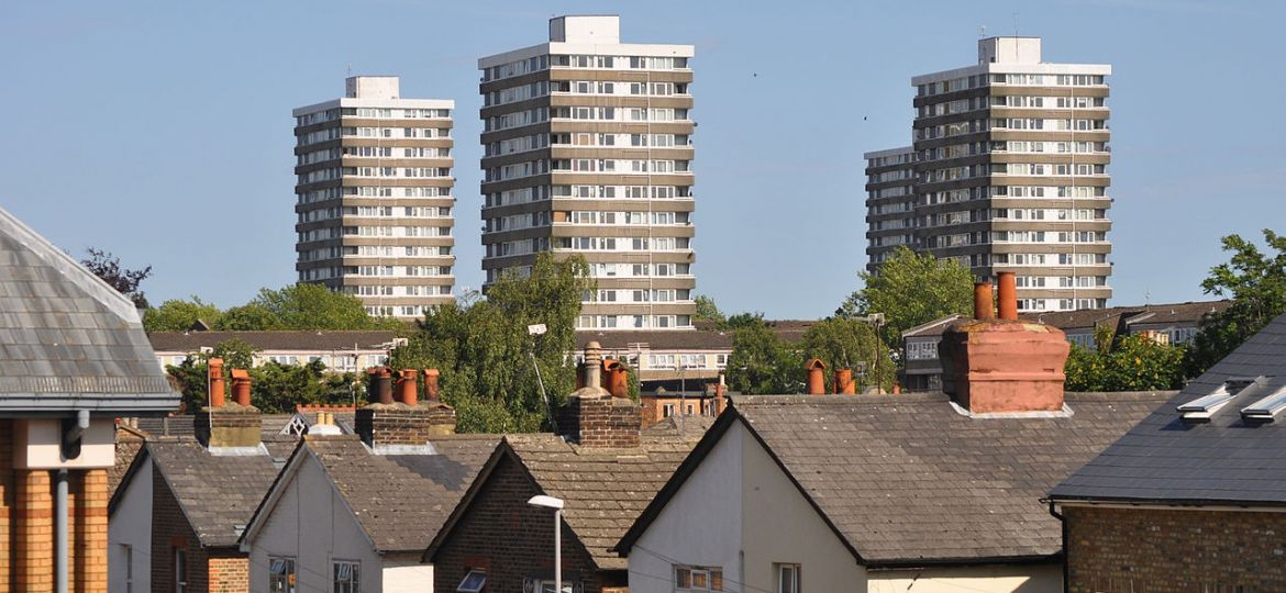 The towers of the Cambridge Road Estate in Kingston upon Thames.