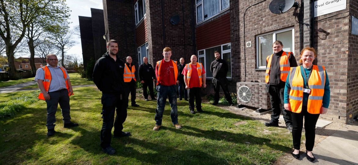 Thirteen Group new heating system in Hartlepool.