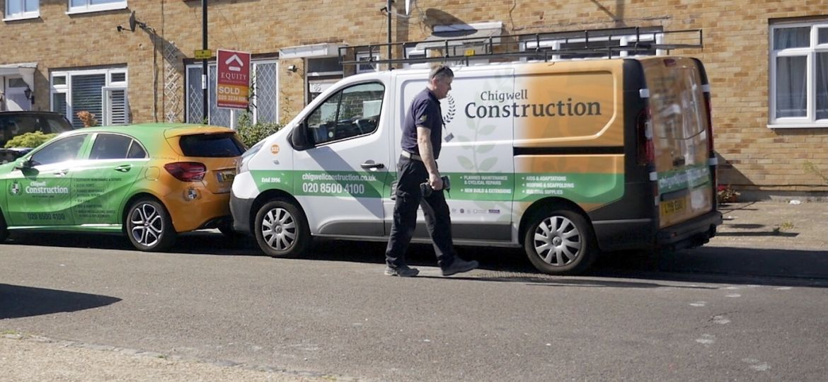 A Chigwell Construction van.
