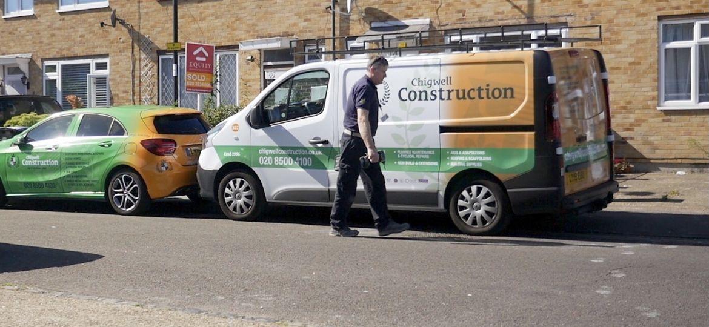 A Chigwell Construction van.