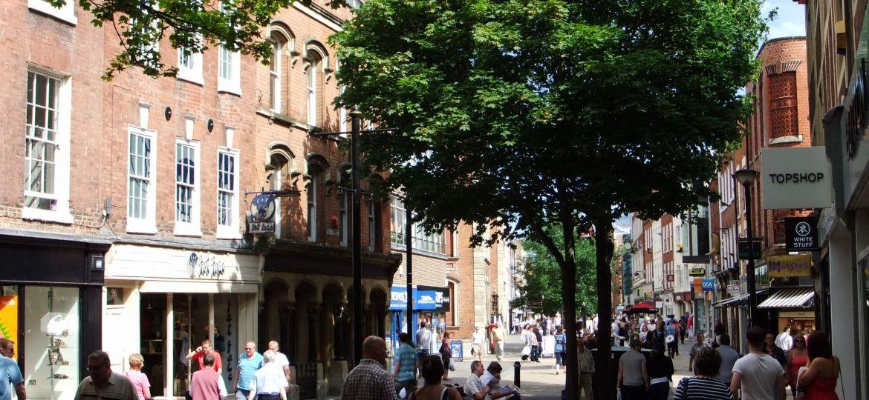 High Street, Worcester, England.