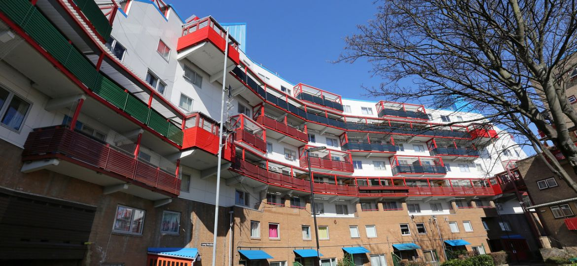 The Grade II* listed Byker Estate in Newcastle upon Tyne.