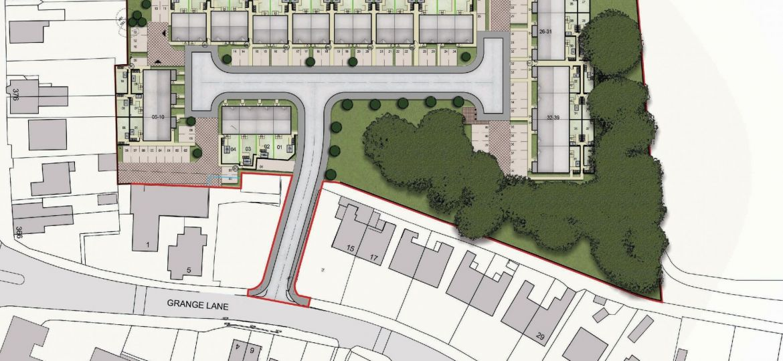 The site plan for Jigsaw's Grange Lane, Winsford scheme.