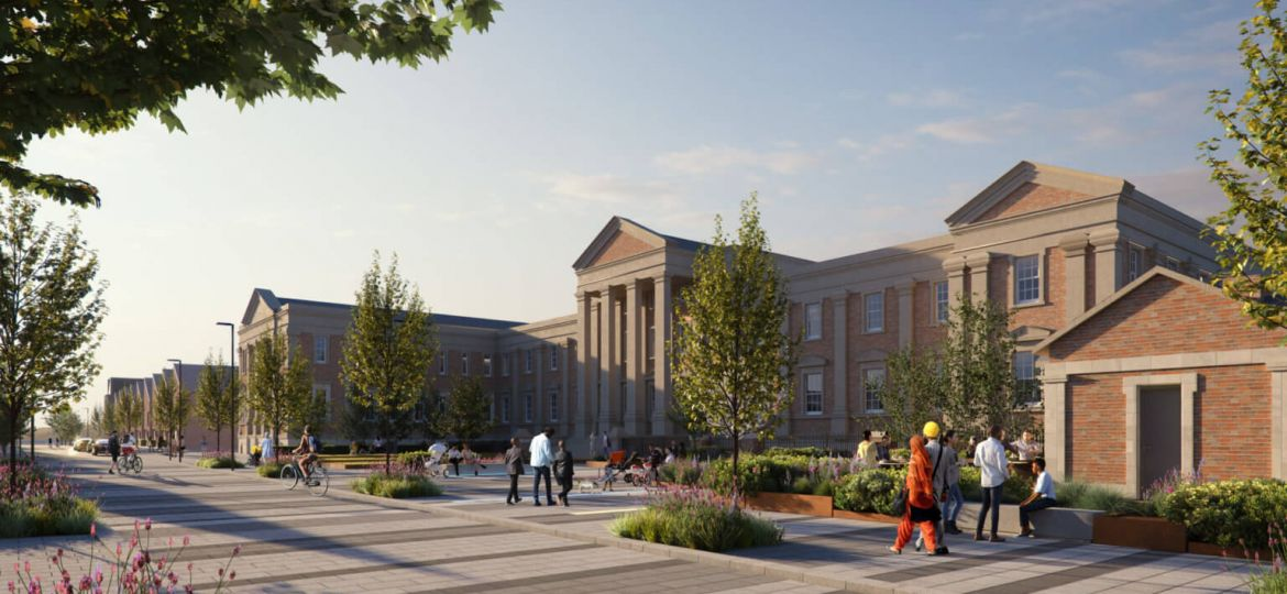 Image: A CGI of whp and Jessup's Wolverhampton Royal Hospital development.