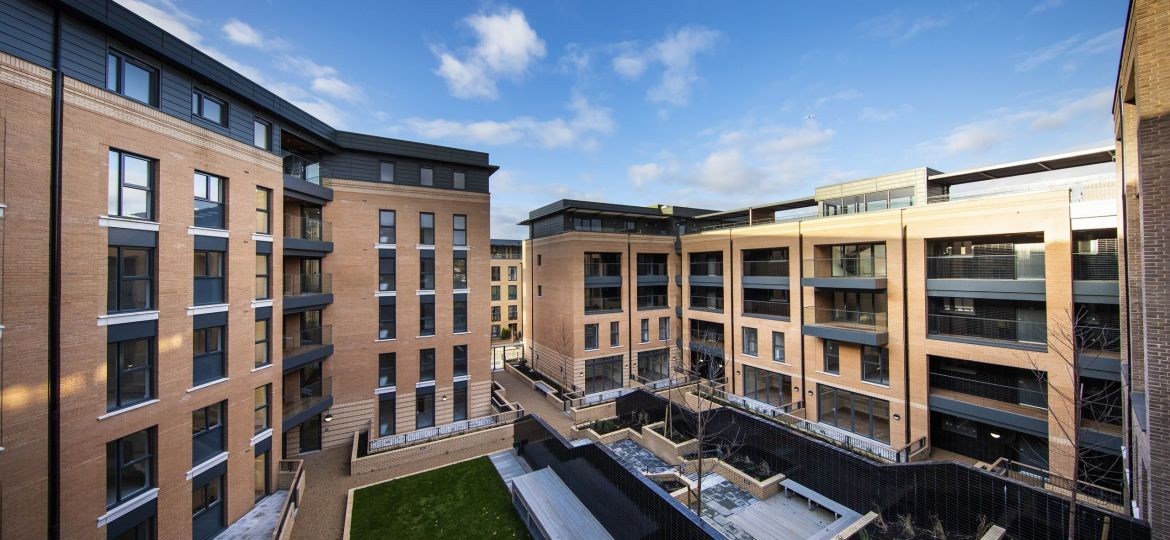 The courtyard of SO Resi Clapham Park, one of Metropolitan Thames Valley Housing's shared ownership schemes.