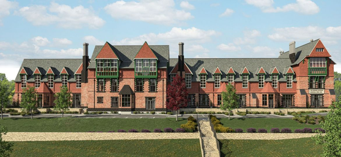 The front elevation of Cookridge Hall, Stonewater's new affordable housing scheme in Leeds.