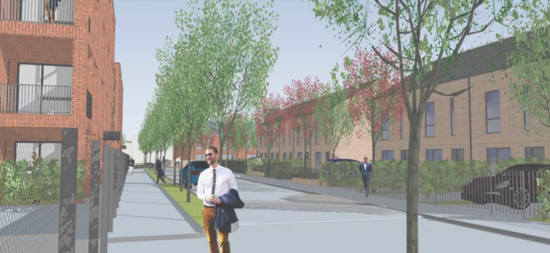 Image: A scene of the Silk Street development in Newton Heath, Manchester.