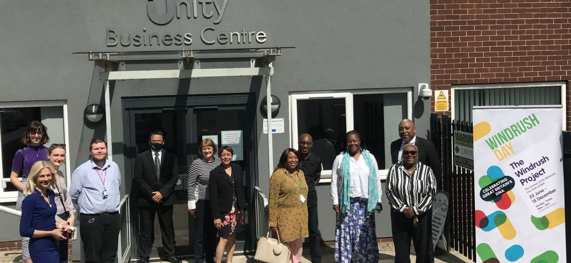 Image: The team behind the The Windrush Project exhibition which is due to open to the public at Unity Business Centre in Chapeltown, Leeds next month.