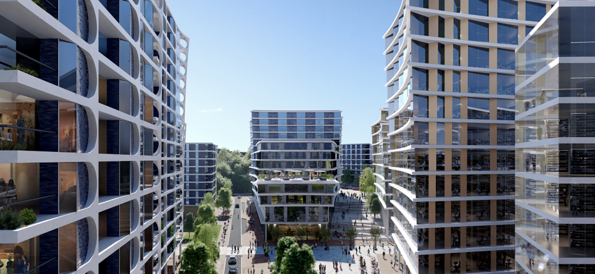 A CGI of what Bristol's new Temple Island scheme could look like.