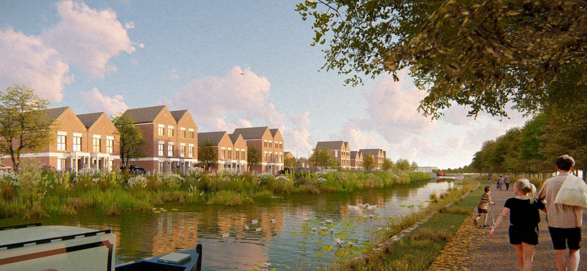 An artist's impression of ilke Homes' proposed 622-home scheme in Beeston, Nottingham.