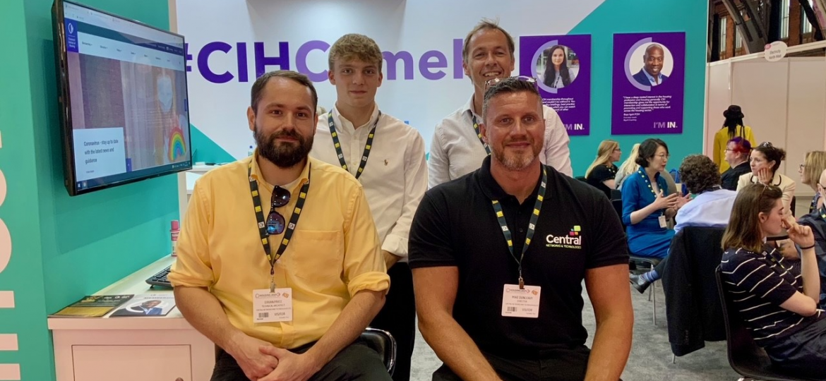 Central's team at the recent CIH conference in Manchester.
